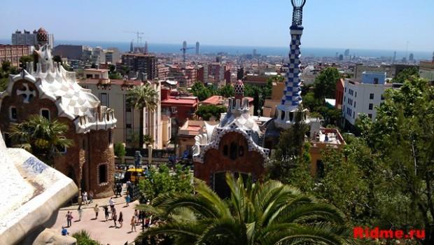 Испания. вид Барселоны