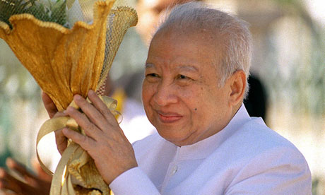 Нородом Сианук, бывший Камбоджийский король