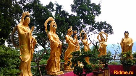 Статуи Будд.